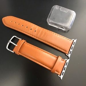 Accessories - Leather Apple Watch Band & Screen Protector